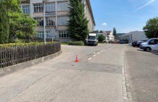 Verkehrsunfall zwischen PW und Velofahrer in Thayngen