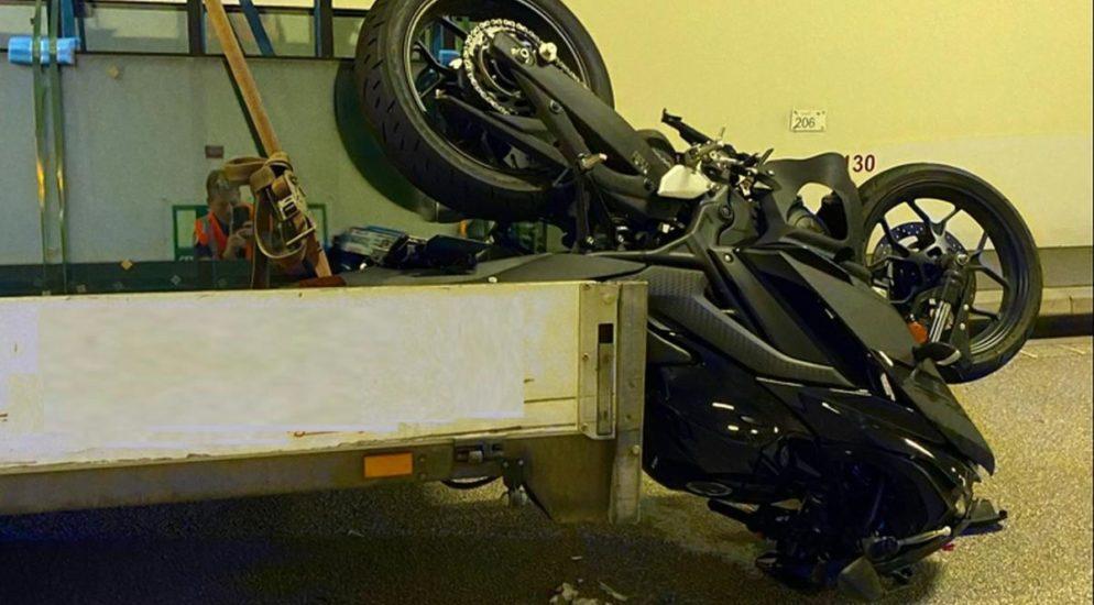 Heftiger Motorradunfall in Liestal