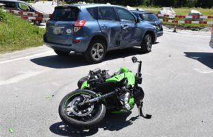 Verkehrsunfall St. Moritz GR: 35-jähriger Lenker notfallmedizinisch betreut