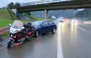 Verkehrsunfall auf der A3 in Mollis GL