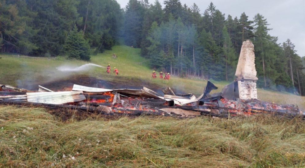 Scheid im Domleschg GR: Maiensäss durch Feuer zerstört