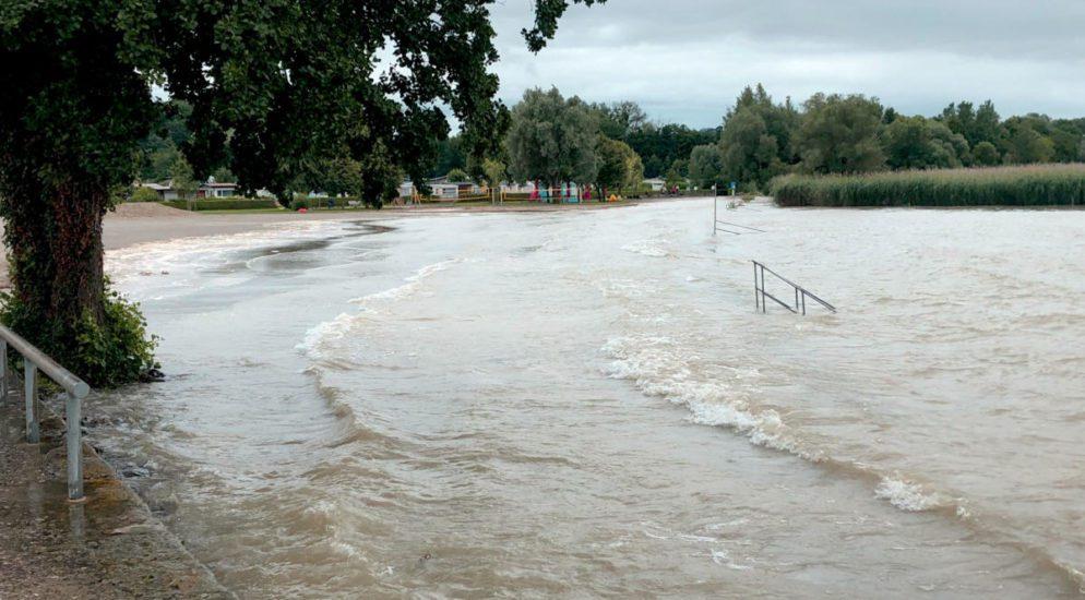 Hochwassersituation am Neuenburger- und Murtensee kritisch