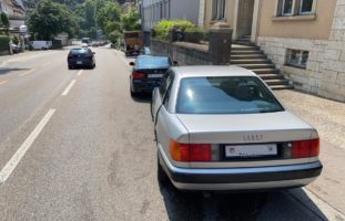 Auffahrunfall zwischen zwei Autos in Schaffhausen