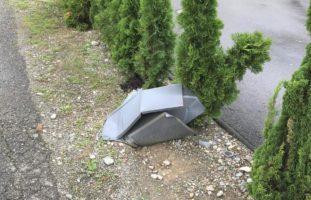 Briefkasten in Ramsen umgefahren und von der Unfallstelle entfernt