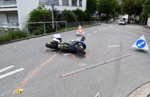 Chur GR: Verkehrsunfall zwischen PW und Motorradlenker