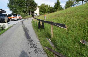 Heftiger Unfall in Walzenhausen AR
