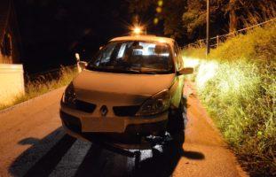 Alkoholisierter Autolenker verursacht Selbstunfall in Nusshof