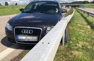 A1, Münchwilen TG: Crash mit Leitplanke auf der Autobahn