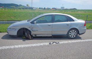 Selbstunfall auf der Autobahn A1 bei Sirnach