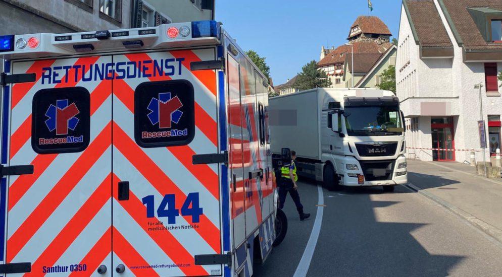 Frauenfeld TG: Fussgänger bei Verkehrsunfall verletzt