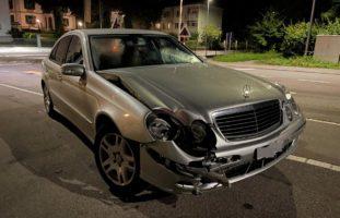Frauenfeld TG: Betrunkener Mercedes-Fahrer baut Selbstunfall