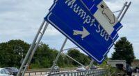 Mumpf AG: Fahrer (31) baut heftigen Selbstunfall auf der A3