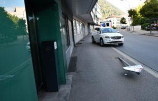 Bei Selbstunfall in Chur mit Signaltafel kollidiert