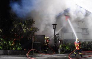 Brand in einem Einfamilienhaus in Altstätten