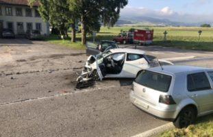 Zwei Verletzte nach Verkehrsunfall in Autigny