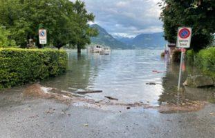 Besorgniserregende Hochwassersituation im Kanton Obwalden