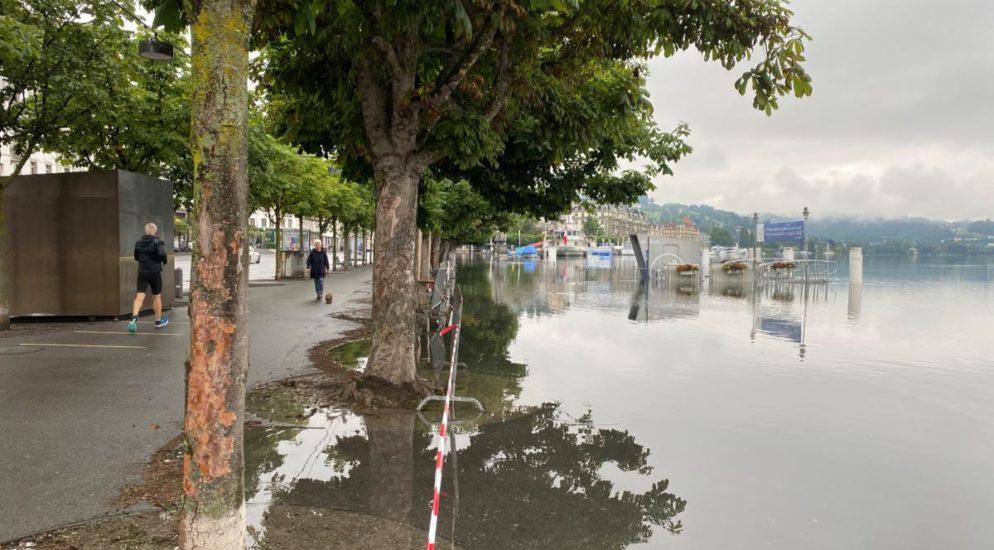 Aktuelle Hochwassersituation in Luzern LU