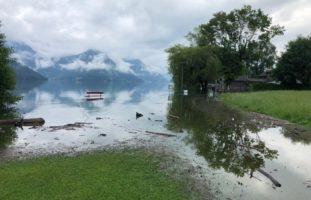 Hochwasser Nidwalden NW: Strassensperrungen und Wassersportverbote