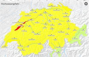 Neues Naturgefahrenbulletin zum Hochwasser in der Schweiz