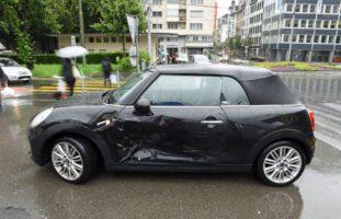 Kollision auf dem Bundesplatz in Luzern