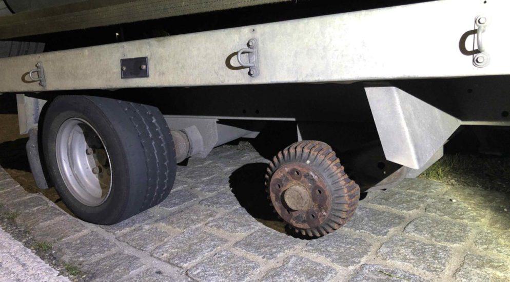 Widnau SG - Defekte Bremse und fehlendes Vorderrad bei Kontrolle