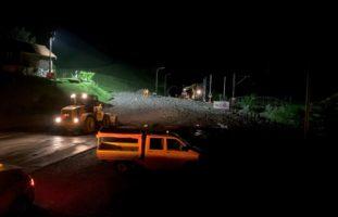 Kanton Nidwalden - Strassen verschüttet und gesperrt, Zugverkehr eingestellt