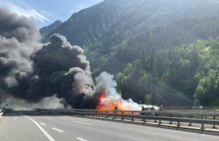 A2, Wassen UR: Gotthard-Strassentunnel mehrere Stunden gesperrt
