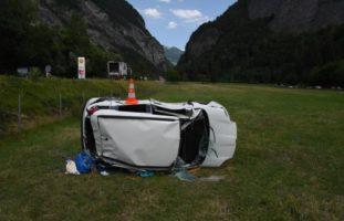 Landquart GR: Verkehrsunfall zwischen PW und Lastwagen