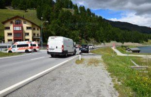 Auffahrunfall beim Abbiegen in Silvaplana