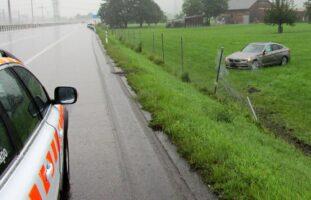 Verkehrsunfall auf der A3 in Niederurnen GL