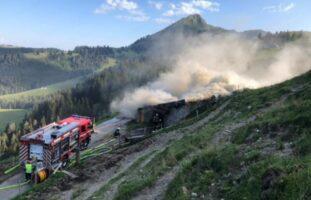 Alphütte in Châtel-St-Denis in Brand geraten: Kühe gerettet