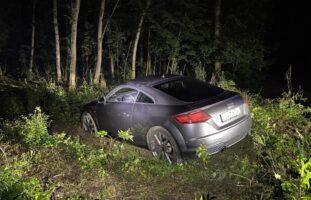 Muttenz BL - PW kommt bei Verkehrsunfall von der Strasse ab