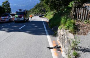 Chur GR - Autofahrer kollidiert mit Mauer