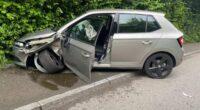 Villmergen AG: Lenkerin gerät auf Gegenfahrbahn und verunfallt