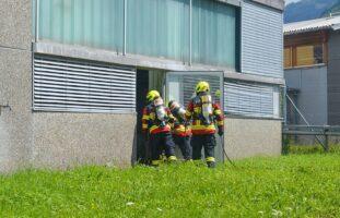 Brand in einem Gewerbebetrieb in Buochs