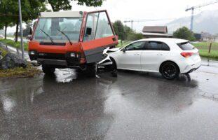 Sargans SG: Verkehrsunfall beim Überholen